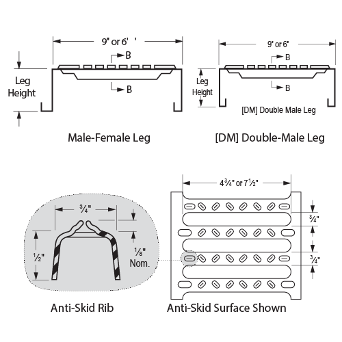 6in Grating Sections - Image 1-01