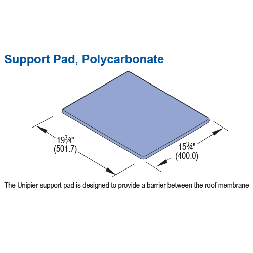 Support Pad, Polycarbonate - Image 1-01