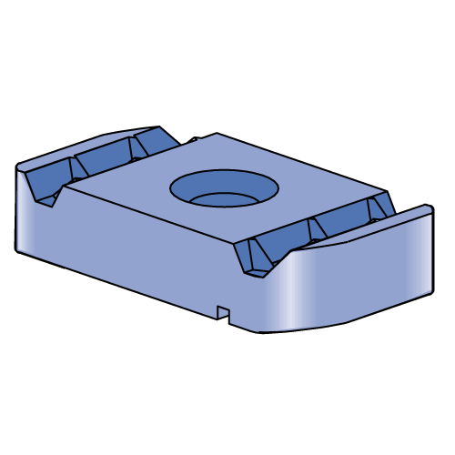 P2000 P3000 P1100 1//4-20 Unistrut Channel Nuts with spring Electro-Galvanized 100//BX Use with channel P1000