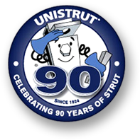 Unistrut celebrating 90 years logo